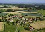 Liboměřice - letecký pohled